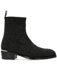 Alexander McQueen Glitter Boots - Black