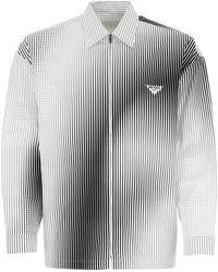 Prada Printed Poplin Shirt Nd Uomo - Multicolour