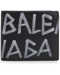 Balenciaga - Graffiti All-over Logo Wallet - Lyst