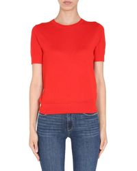 Tory Burch Iberia Short-sleeve Pullover - Red
