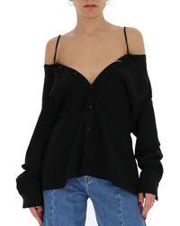 Maison Margiela Off Shoulder Shirt - Black