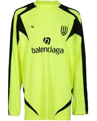 Balenciaga Soccer Long-sleeved T-shirt - Yellow