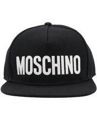 Moschino Logo Embroidered Baseball Cap - Black