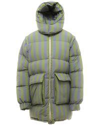 Sunnei Striped Padded Jacket - Green