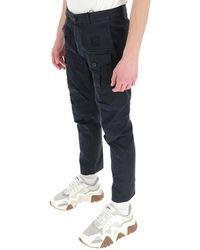 DSquared² Pocket Detail Cargo Pants - Black