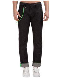 Emporio Armani Logo Patch Straight-leg Jeans - Black