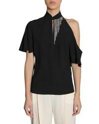 Lanvin Embellished Blouse - Black