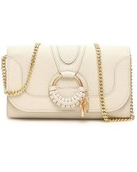 See By Chloé Hana Chain Crossbody Bag - Natural