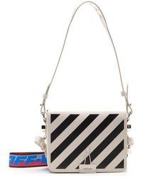 Off-White c/o Virgil Abloh Diagonal Flap Shoulder Bag - White