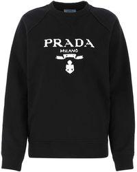 Prada Black Cotton Sweatshirt