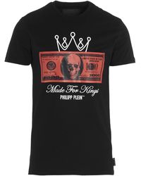 Philipp Plein Dollar Print T-shirt - Black