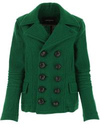DSquared² Double-breasted Coat - Green