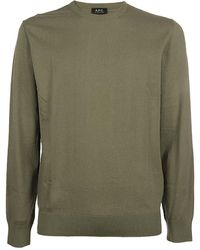 A.P.C. Crewneck Knitted Pullover - Green