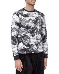 White Mountaineering Mountain Print Sweatshirt - Grey