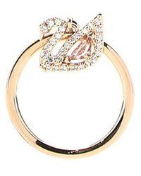 Swarovski Dazzling Swan Ring - Metallic