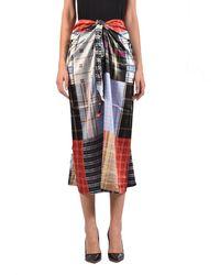 Ganni Patchwork Silk Skirt - Multicolour