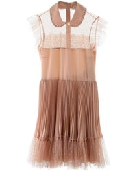 RED Valentino Mini Dress With Tulle - Pink