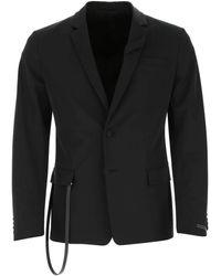 Prada Strapped Tailored Blazer - Black