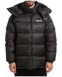 EA7 Outerwear Jacket Blouson Hood - Black