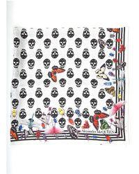Alexander McQueen Skull Printed Scarf - Multicolor