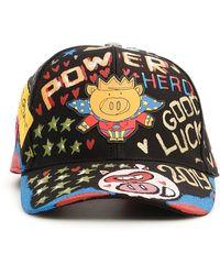 Dolce & Gabbana Hero Pig Grafitti Baseball Cap - Black