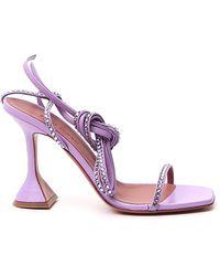 AMINA MUADDI Vita Ankle Strap Sandals - Purple
