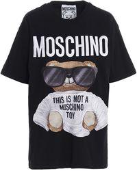 Moschino Sunglasses Teddy Print T-shirt - Black