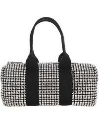 Alexander Wang Cruiser Crystal Embellished Duffle Bag - Black