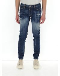 Philipp Plein Distressed Jeans - Blue