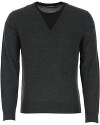 Dolce & Gabbana Layered V-neck Jumper - Grey