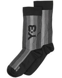 Y-3 Logo Intarsia Ribbed Socks - Black
