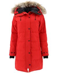 Canada Goose Shelburne Down Parka W/ Fur Trim - Red