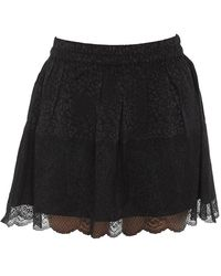 Zadig & Voltaire - Lace Effect Mini Skirt - Lyst