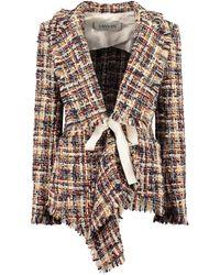 Lanvin Belted Tweed Jacket - Multicolour