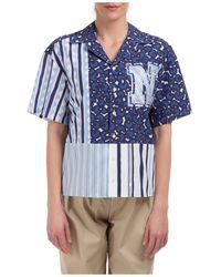 Neil Barrett Mix Print Short-sleeve Shirt - Blue
