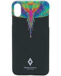 Marcelo Burlon Fluo Wings Iphone Xs Max Case - Black