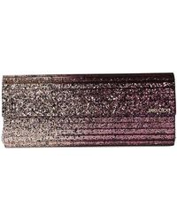 Jimmy Choo Sweetie Clutch With Chain - Pink
