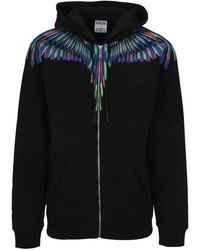 Marcelo Burlon Chalk Wings Zipped Jacket - Black