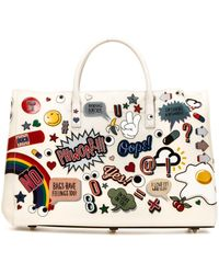 Anya Hindmarch All Over Embossed Print Shopping Bag - Multicolor