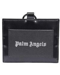 Palm Angels Logo Lanyard Cardholder - Black