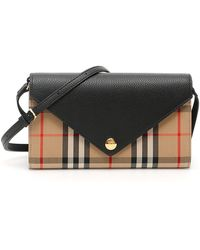 Burberry Vintage Check Strap Wallet - Black