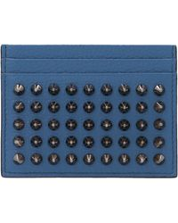 Christian Louboutin Kios Spiked Cardholder - Blue