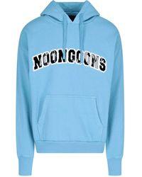 Noon Goons Club 9 Drawstring Hoodie - Blue