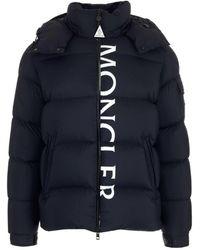 Moncler Maures Hooded Down Jacket - Blue