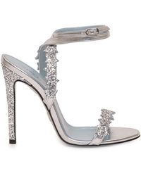 Chiara Ferragni Glitter Star Ankle Strap Sandals - Metallic