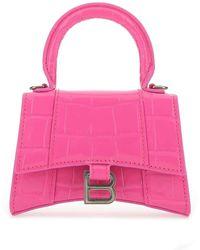 Balenciaga Hourglass Mini Top Handle Bag - Pink