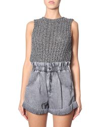 Isabel Marant Knit Sleeveless Top - Metallic