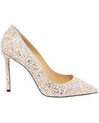 Jimmy Choo Romy 100 Glitter Court Shoes - Multicolour