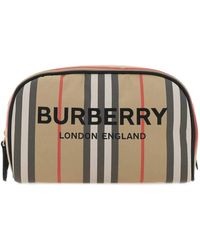 Burberry Icon Stripe Beauty Case - Natural