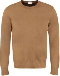 Z Zegna Crewneck Knit Sweater - Brown